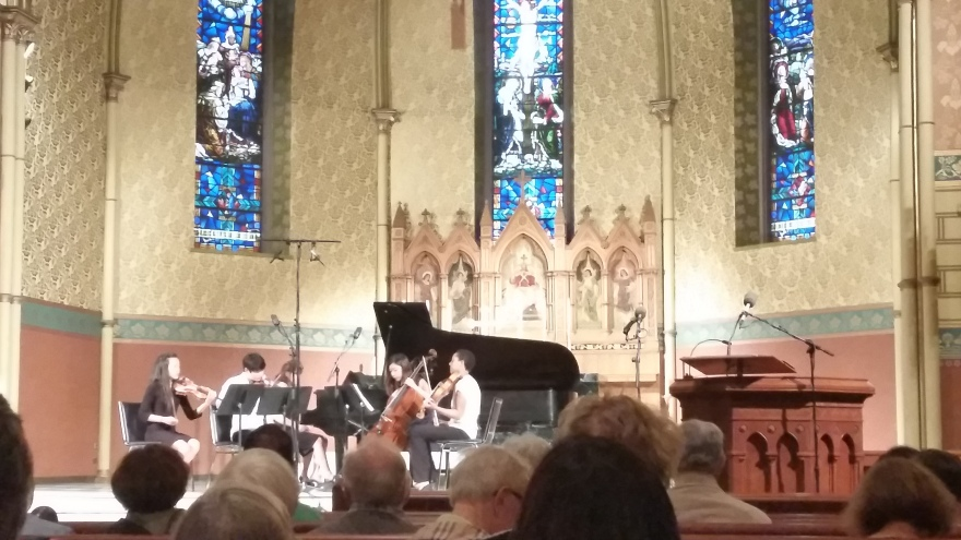 150707- St James Cathedral - Piano Quintet:Photo by Drumnmike